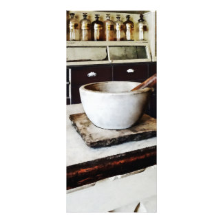 Mortar and Pestle in Apothecary Rack Card