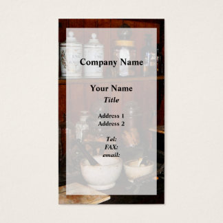 Mortar and Pestle in Drug Store Business Card