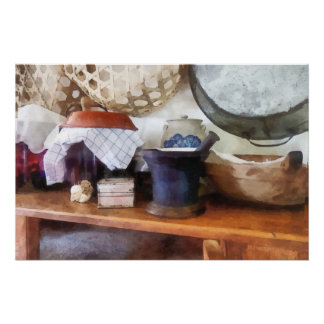 Mortar and Pestle in Kitchen