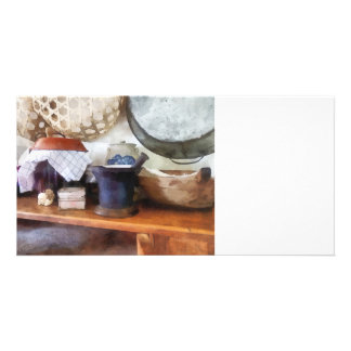 Mortar and Pestle in Kitchen Photo Card Template
