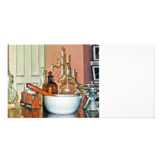 Mortar and Pestle in Perfume Shop Photo Card