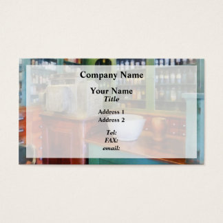 Mortar and Pestle in Pharmacy Business Card