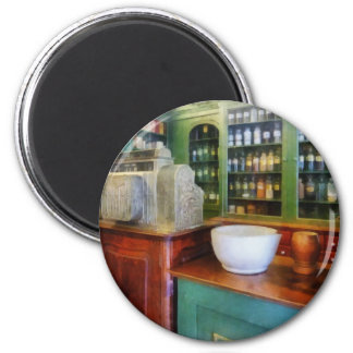 Mortar and Pestle in Pharmacy 2 Inch Round Magnet