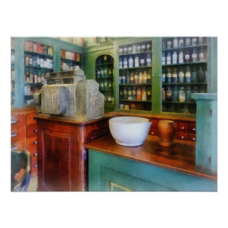 Mortar and Pestle in Pharmacy Posters