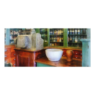 Mortar and Pestle in Pharmacy Rack Card