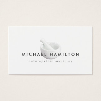 Mortar and Pestle Logo for Naturopaths, Healers Business Card