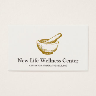 Mortar and Pestle Logo Integrative Doctor Business Card