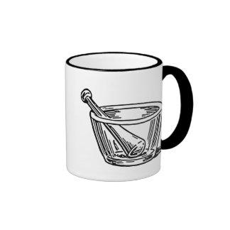 Mortar and Pestle Ringer Coffee Mug