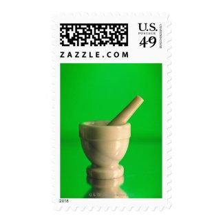 Mortar and pestle postage stamp