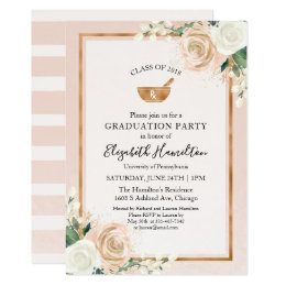 Pharmacist graduation invitations announcements zazzle mortar and pestle rx pharmacy school grad party card filmwisefo Images