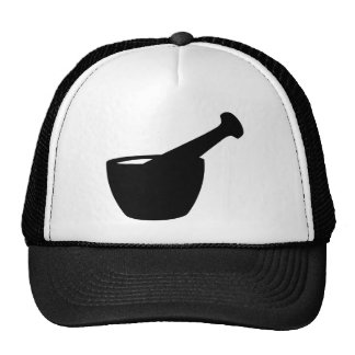 Mortar And Pestle Silhouette Trucker Hat