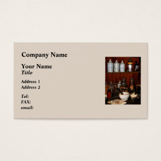 Mortar and Pestles in Drug Store Business Card
