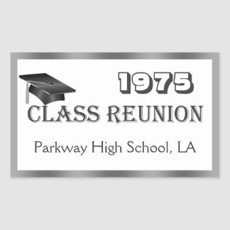 Mortar, class reunion gray, white any year Sticker
