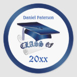 Mortar, diploma Class of Graduation Seal Classic Round Sticker