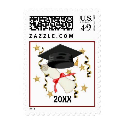Mortar & Diploma - Customize Stamp