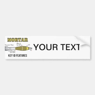 Mortar Key ID features Bumper Sticker