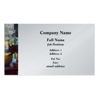 Mortar, Pestle and Bottles by Window Business Card