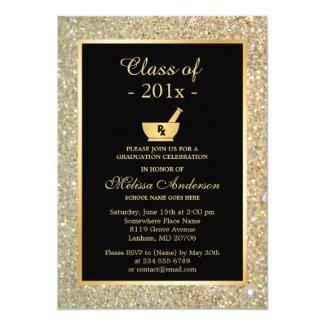 Mortar Pestle Pharmacy School Graduation Party Invitation