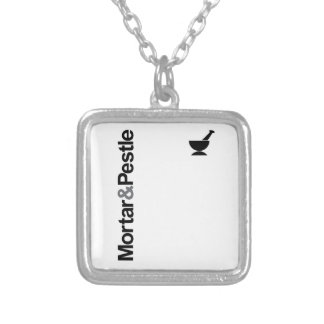 Mortar & Pestle Silver Plated Necklace