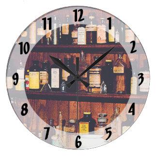 Mortar, Pestles and Medicine Bottles Wall Clock