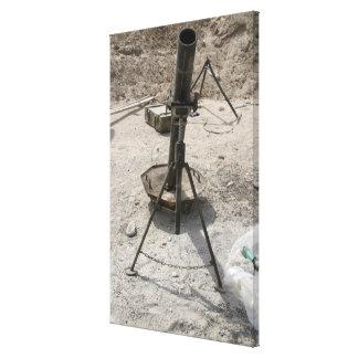 Mortar tubes canvas print