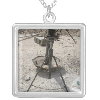 Mortar tubes silver plated necklace