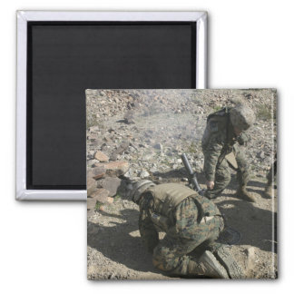 Mortarmen cover their ears and avert their eyes 2 inch square magnet