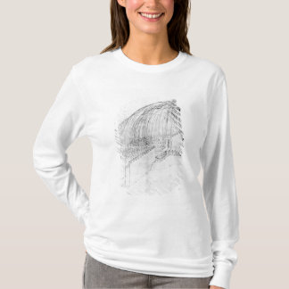 Mortars firing stones over a wall into a fort T-Shirt