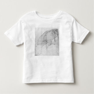 Mortars firing stones over a wall into a fort toddler t-shirt