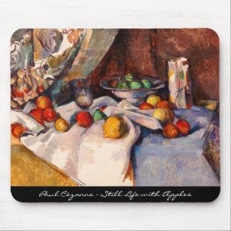 Morte de la naturaleza de Paul Cezanne (aún vida c Alfombrillas De Ratones