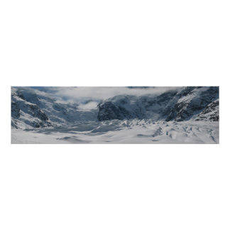 Morteratsch glacier in the Bernina Range Poster
