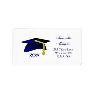 Mortero de la graduación etiquetas de dirección