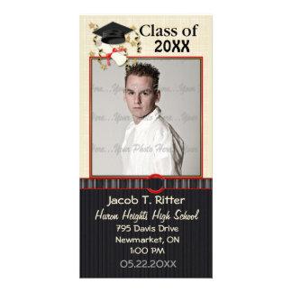 Mortero y diploma - personalizar tarjeta personal