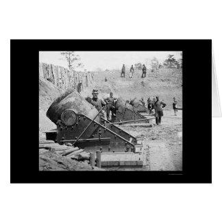 Morteros de la costa en Yorktown, VA 1862 Tarjeta De Felicitación