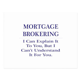 Mortgage Brokering .. Explain Not Understand Postcard