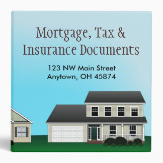 Mortgage, Tax and Insurance Documents Avery Binder