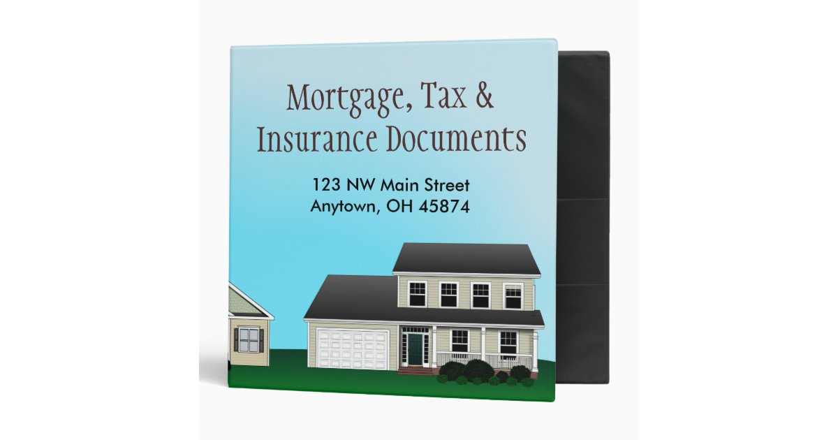 Mortgage, Tax and Insurance Documents Avery Binder | Zazzle