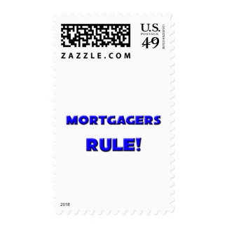 Mortgagers Rule! Postage Stamp