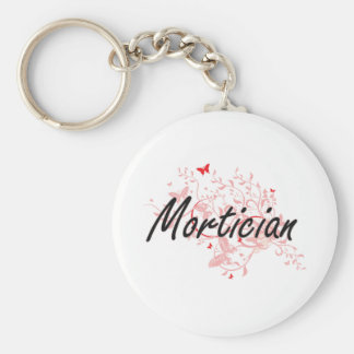 Mortician Artistic Job Design with Butterflies Keychain