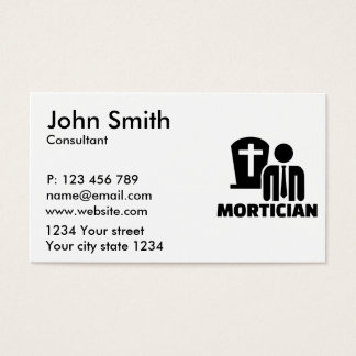 Mortician Business Card