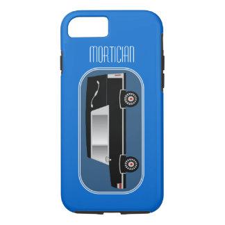 Mortician iPhone 7 case Hearse Design Blue
