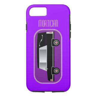 Mortician iPhone 7 case Hearse Design Purple