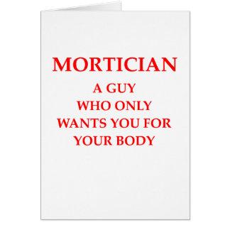 mortician joke greeting cards