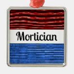 Mortician Patriotic Christmas Ornament