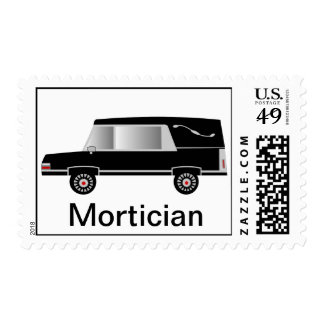 Mortician Postage Stamps