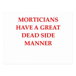 MORTICIANS POSTCARD
