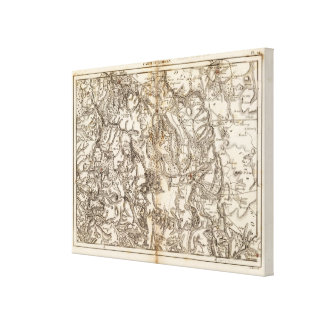 Morvan Atlas Map Canvas Print