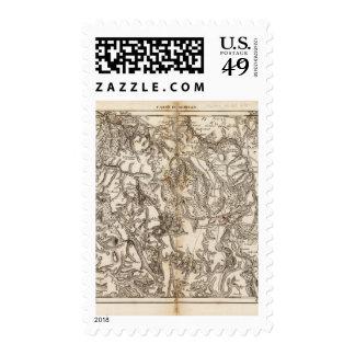 Morvan Atlas Map Postage
