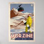 Morzine - efecto del vintage impresiones