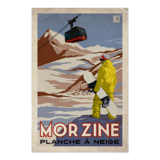 Morzine - Vintage Effect Poster